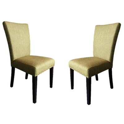 Zoey Upholstered Side Chair Upholstery: Basil Linen