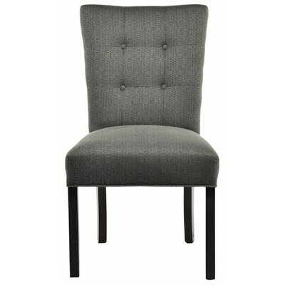 Parsons Chair Upholstery: Candice Charcoal