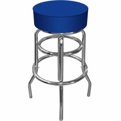 31 inch Swivel Bar Stool Upholstery: Blue