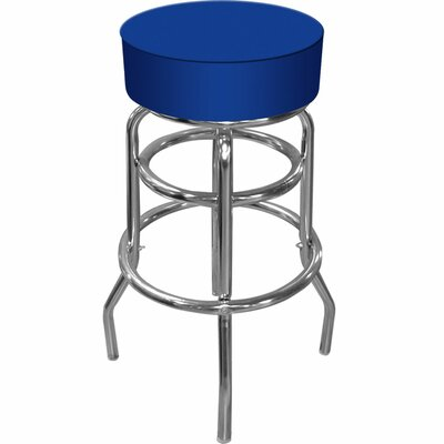 Catawba 31 Swivel Bar Stool Upholstery: Blue