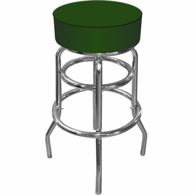 Catawba 31 Swivel Bar Stool Upholstery: Green