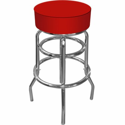 Catawba 31 Swivel Bar Stool Upholstery: Red