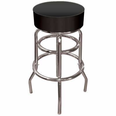 Catawba 31 Swivel Bar Stool Upholstery: Black