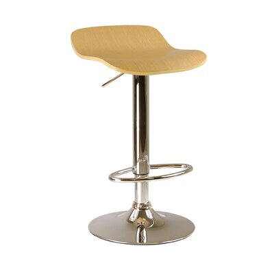 Wakeley Adjustable Height Swivel Bar Stool Finish: Natural