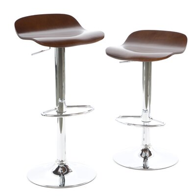 Wakeley Adjustable Height Swivel Bar Stool Finish: Cappuccino