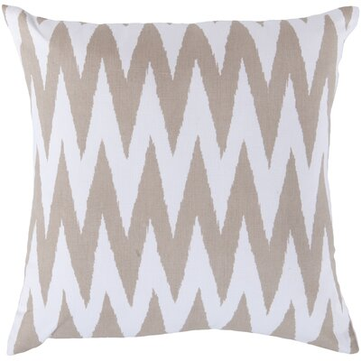 Waterloo Chevron Cotton Throw Pillow Size: 18 H x 18 W x 4 D, Color: Safari Tan / White, Filler: Polyester