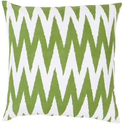 Waterloo Chevron Cotton Throw Pillow Size: 20 H x 20 W x 4 D, Color: Peridot / White, Filler: Down