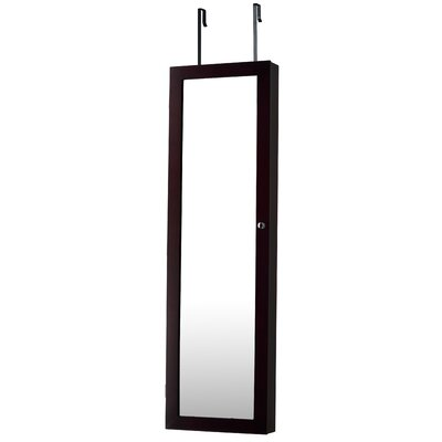 Bohdalice Over The Door Jewelry Armoire with Mirror Finish: Espresso