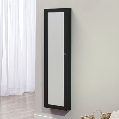 Bohdalice Over The Door Jewelry Armoire with Mirror Finish: Black