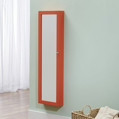 Bohdalice Over The Door Jewelry Armoire with Mirror Color: Coral