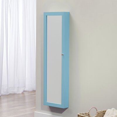 Bohdalice Over The Door Jewelry Armoire with Mirror Finish: Turquoise