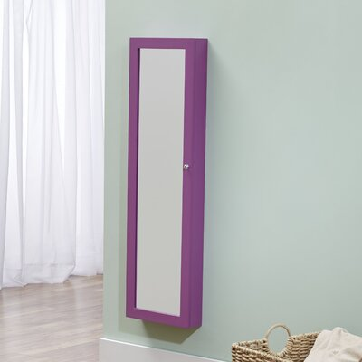 Bohdalice Over The Door Jewelry Armoire with Mirror Finish: Purple