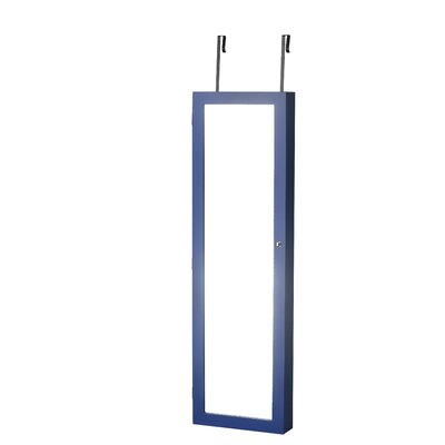 Bohdalice Over The Door Jewelry Armoire with Mirror Finish: Blue