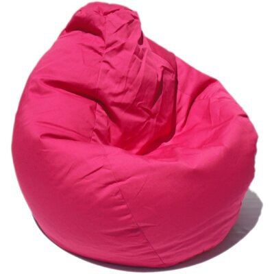 Solid Pear Bean Bag Chair Upholstery: Pink