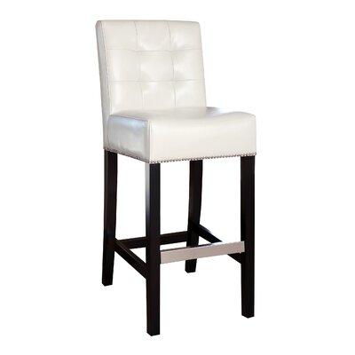 Bridgeton 30 inch Bar Stool Upholstery: Ivory