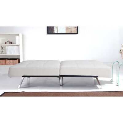 Sleeper Sofa Upholstery: White