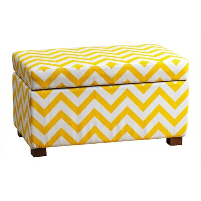 Bryson Small Chevron Storage Ottoman Upholstery: Yellow