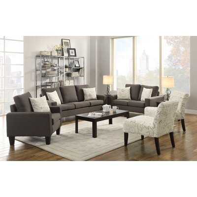 Bordovice Loveseat Upholstery: Grey