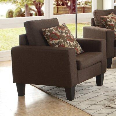 Corine Armchair Upholstery: Chocolate