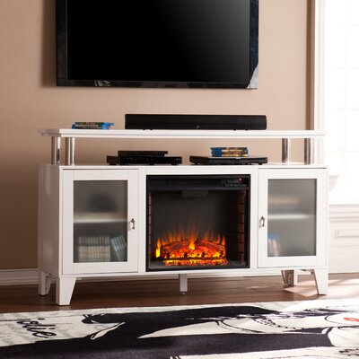 Borovany TV Stand with Electric Fireplace