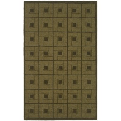 Hand-Woven Brown Area Rug Rug Size: Round 4 x 4