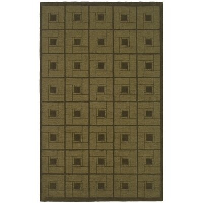 Hand-Woven Brown Area Rug Rug Size: 9 x 12