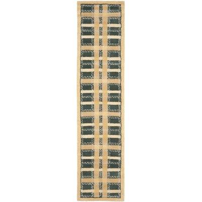 Hand-Tufted Cornucopia Gold Area Rug Rug Size: Runner 23 x 10