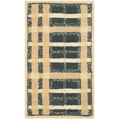 Hand-Tufted Cornucopia Gold Area Rug Rug Size: 5 x 8