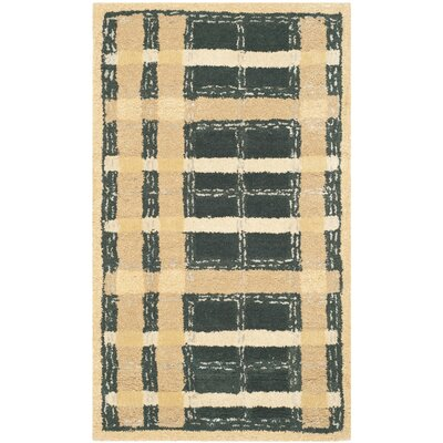 Hand-Tufted Cornucopia Gold Area Rug Rug Size: 26 x 43
