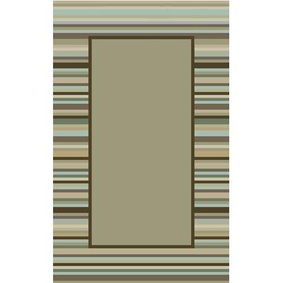 Hand-Woven Tadpole Green Area Rug Rug Size: 4 x 6