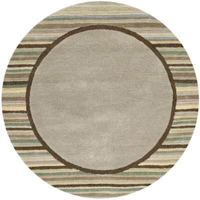 Hand-Woven Tadpole Green Area Rug Rug Size: Round 8 x 8