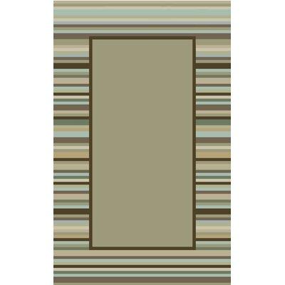 Hand-Woven Tadpole Green Area Rug Rug Size: 9 x 12