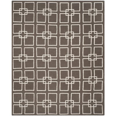 Dance Hand-Tufted Soil Brown Area Rug Rug Size: 9 x 12