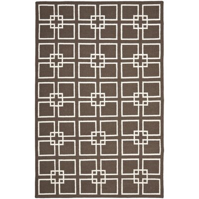Dance Hand-Tufted Soil Brown Area Rug Rug Size: 5 x 8