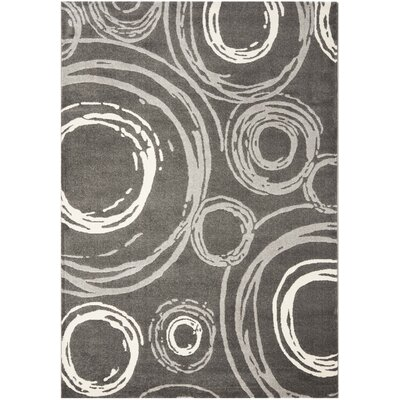 Dark Gray Area Rug Rug Size: Rectangle 53 x 77