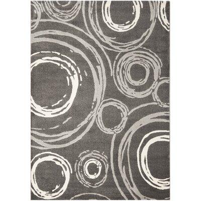 Dark Gray Area Rug Rug Size: 53 x 77