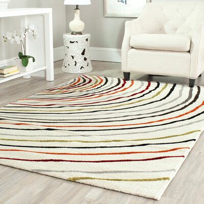 Burwan Ivory Area Rug Rug Size: Rectangle 53 x 77