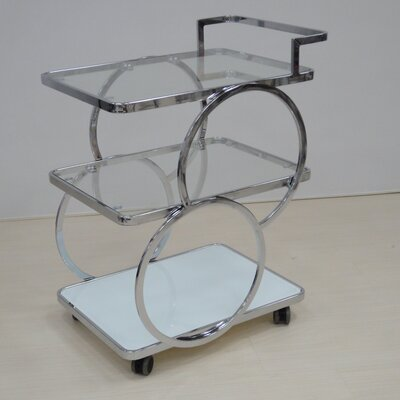 Kitchen Cart with Glass Top