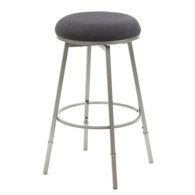 Adjustable Height Swivel Bar Stool Base Finish: Black Suede