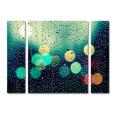 Rainy City 3 Piece Photographic Print on Wrapped Canvas Set