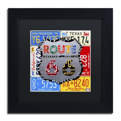 'Route 66 Road Sign' by Design Turnpike by Design Turnpike Framed Graphic Art