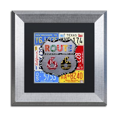 'Route 66 Road Sign' by Design Turnpike Framed Graphic Art
