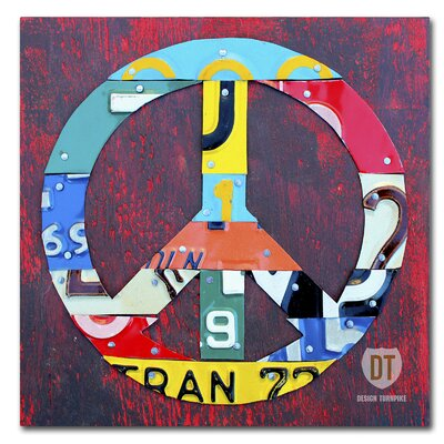 Peace by Design Turnpike Graphic Art on Wrapped Canvas Size: 14