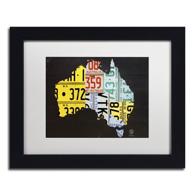 Australia Licence Plate Map by Design Turnpike Framed Graphic Art