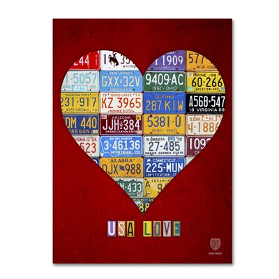 Heart by Design Turnpike by Design Turnpike Graphic Art on Wrapped Canvas