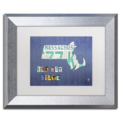 Massachusetts Licence Plate by Design Turnpike Framed Graphic Art