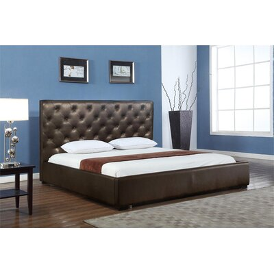 Delaney Upholstered Storage Platform Bed Size: Queen, Color: Chocolate