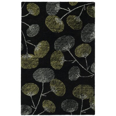 Hand-Tufted Black Area Rug Rug Size: Rectangle 36 x 56
