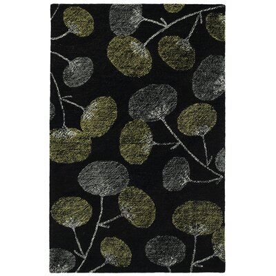 Hand-Tufted Black Area Rug Rug Size: Rectangle 8 x 10