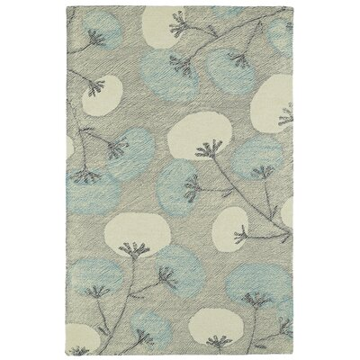 Hand-Tufted Gray Area Rug Rug Size: Rectangle 5 x 9